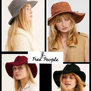NWOT Intimately Free People bucket floppy suede
